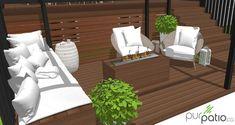 section foyer lounge Veranda Design, Deck Design, Gazebo, Backyard Patio, Backyard Ideas, Outdoor Furniture, Outdoor Decor, Laval, Foyer