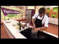 Receta: piquillos rellenos de bacalao - YouTube