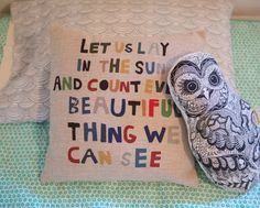 Lovely, whimsical pillow for the kids room!
