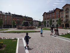 Beautiful fountain - Asiago Italy.