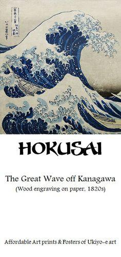 Hokusai, The great wave off Kanagawa | Affordable Art-prints and Posters of Japanese Ukiyo-e art