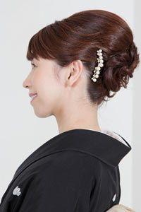 結婚式当日のお母様の髪型を探すならなら「結婚準備室」 Up Styles, Long Hair Styles, Japanese Kimono, Updos, Bangs, Wedding Hairstyles, Hair Beauty, Yahoo, Fashion