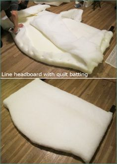 4 DIY Fabric Headboard, Handmade, Bed post, Reupolstery, Reupoltered