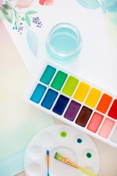 These fun homemade watercolor paint not only stimulate a child's visually, tactically but it also stimulates their sense of smell.