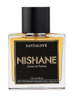 Santalove Nishane. op notes are ylang-ylang and bergamot; middle note is sandalwood; base notes are vanilla and tonka bean.
