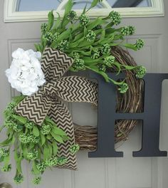 Just For You. Boxwood wreath Front Door Wreaths Spring by bndd Front Door Decor, Wreaths For Front Door, Door Wreaths, Front Porch, Boxwood Wreath, Diy Wreath, Wreath Ideas, Grapevine Wreath, Holiday Wreaths