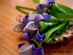 quilled flor de papel by jojablueberry