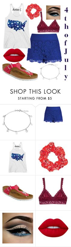 """4th of July"" by carolynevers ❤ liked on Polyvore featuring Bling Jewelry, City Chic, Topshop, Birkenstock, Hanky Panky and Lime Crime"