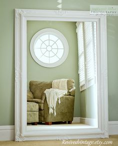 Hollywood regency mirror for sale white french country for Large white mirrors for sale
