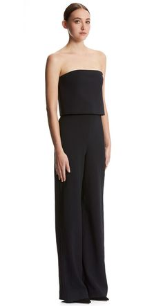 87c320b2182f Scanlan Theodore Double Faille Strapless Jumpsuit Black RRP $800 #fashion  #clothing #shoes #accessories #womensclothing #jumpsuitsrompers (ebay link)