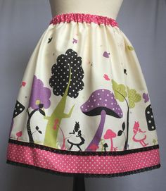 Alice Mushroom Forest Sweet Lolita Skirt Purple Polka by VeraJanes