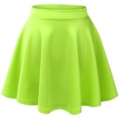 Azkara Women's Basic Versatile Stretchy Flare Short Skater Skirts ($16) ❤ liked on Polyvore featuring skirts, mini skirts, flared mini skirt, stretch skirt, short circle skirt, green skater skirt and stretch mini skirt