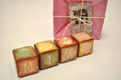 Handmade toy blocks