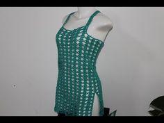 Crochet Videos, Crop Tops, Tank Tops, Crochet Stitches, Formal Dresses, Knitting, Chic, Pattern, Crochet Tops