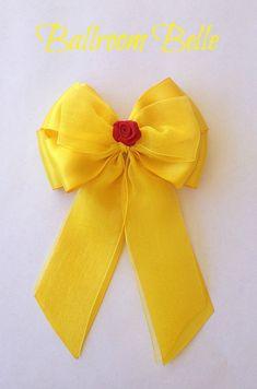 Disney inspired Beauty and the Beast Ballroom Belle princess hair bow