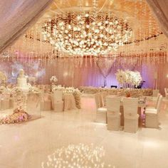 Princess themed wedding reception.