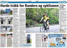 Svein Halvorson fra Frederikstad (Norge) lagde vejen forbi Randers for at få stof til artikel om cykling i dansk provinsby.