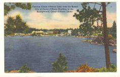 Idaho Coeur D'Alene Lake Resort Area Postcard