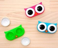 Owl Contact Lens Case I actually have one... It split down the middle. Uncool, owl case, uncool.
