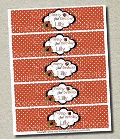 Ladybug card template craft ideas pinterest birthday party invitations design and parties - Ladybug watering can ...