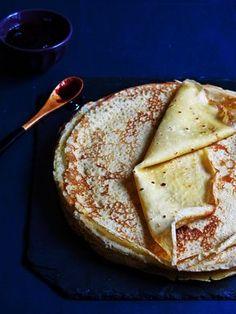 Gluten-free pancakes - Artichoke and black cherry- Crêpes sans gluten – Artichaut et cerise noire Gluten-free pancake - Gluten Free Pancakes, Gluten Free Desserts, Gluten Free Recipes, Fodmap Recipes, Lactose Free Diet, Vegan Gluten Free, Dairy Free, Easy Healthy Recipes, Snack Recipes