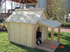 Want to make your dog happy? Well, build him an insulated dog house with a porch!
