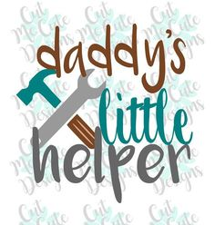 Daddys Little Helper SVG DXF PNG Cut File Cricut Silhouette Cameo Scrapbooking Vinyl Instant