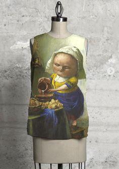 Milkmaid sleeveless top by VIDA