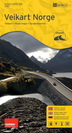 Carte routière de Norvège Veikart Norge n°2180 - Echelle au 1 :1 million