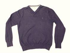 Tommy Hilfiger men's sweater size M 100% cotton logo original #TommyHilfiger #sweater