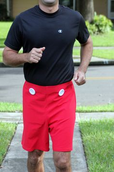 Men's Mickey Mouse style Running Shorts for Disney