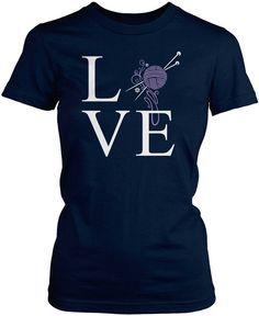 Love Knitting T-Shirt  Sponsored By: Grandma's Crochet Shop