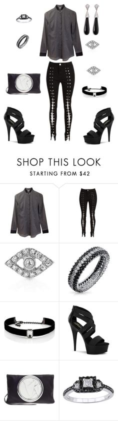 """law's tick tock"" by loreher26 ❤ liked on Polyvore featuring Brunello Cucinelli, Sydney Evan, Bling Jewelry, Kenneth Jay Lane, Pleaser and Modern Bride"
