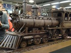 Model Train Made Entirely From Chocolate