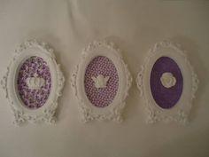 trio molduras provençais com tecidos