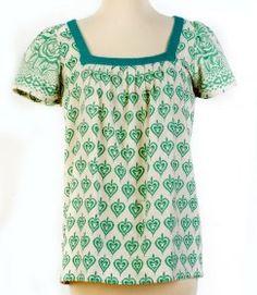 Set Boutique: fair trade products-- Prairie Top Teal [set2610]