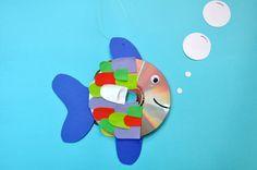Der Regenbogenfisch – Bastelidee mit Vorlage