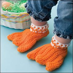 Duck feet slippers! They're even in adult size. Oh my.
