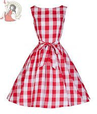 Lindy Bop 50's Dress Audrey Red Check White