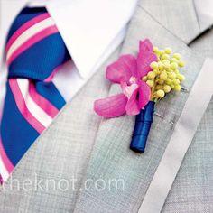 蘭花胸花 Orchid Wedding Boutonnieres