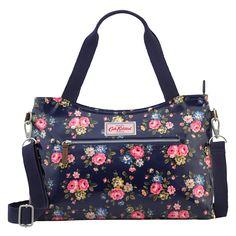 Latimer Rose Zipped Handbag with Detachable Strap | Cath Kidston |