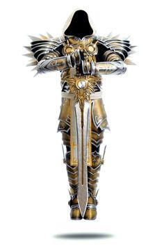 Tyrael: Archangel by LittleBlondeGoth on DeviantArt Angel Warrior Tattoo, Warrior Tattoos, Fantasy Armor, Dark Fantasy, Tattoo Sleeve Designs, Sleeve Tattoos, Diablo Cosplay, Archangel Tattoo, Character Art