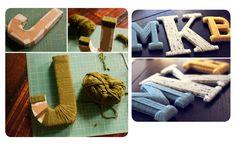 Letras para decorar ¡muchas ideas DIY!