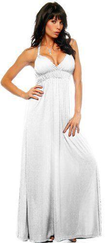 Maxi Summer Halter Beach Party Long Sun Dress - Maxi Dress