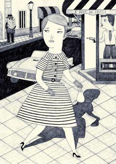 My muse Jean Seberg! - Ana Albero's work.