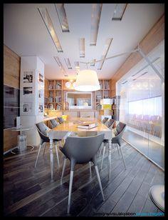 Meeting room on Behance