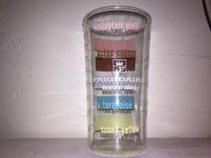 EXC Vintage FRIGIDAIRE Color Chart Glass Measuring Tumbler Anchor Hocking    eBay