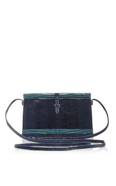 Midnight Blue Square Trunk Bag by HUNTING SEASON for Preorder on Moda  Operandi Over The Shoulder 9870feb377289
