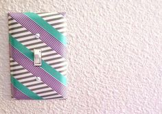 Washi Tape Light Switch | 25 Gorgeous DIYs For Your Teenage Girl's Room