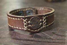 """Купить Браслет из кожи """"ДЕНЕЖКА"""" - коричневый, браслет на руку, мужской браслет, кожаный браслет"""
